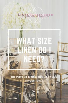 LinenTablecloth Sizing Tool can help you calculate the tablecloth size you need for your table. Round, rectangular or square shape table - find the right width, length or diameter of a tablecloth using our simple online tool. October Wedding, Fall Wedding, Wedding Reception, Dream Wedding, Wedding Table Centerpieces, Wedding Decorations, Table Decorations, Tablecloth Sizes, Tablecloths
