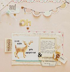 Scrapbooking Ideas for a Pastel Christmas