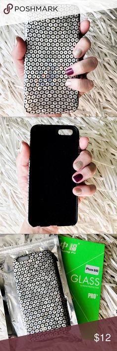 NEW iPhone 6/6s Soft TPU Sequin Case + Glass ▪️Fits 6/6s Models   ▪️PU Leather Soft TPU, Soft Backing To Protect Phone    ▪️Brand New Tempered Glass Screen Protector Included !    ▪️Same or Next Business Day Shipping , Check My Stats! Accessories Phone Cases