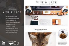 Vine & Lace - Handcrafted WordPress by Nudge Media Design on Creative Market