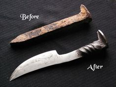 Picture of How to make a railroad spike knife?