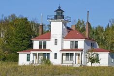 Great Lake Lighthouse: Raspberry Island Lighthouse, Apostle Islands, Wisconsin (1873) Just across the bay where I grew up.