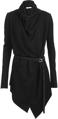 Helmut Lang | Black Belted Long Cardigan