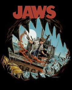 Jaws film poster art