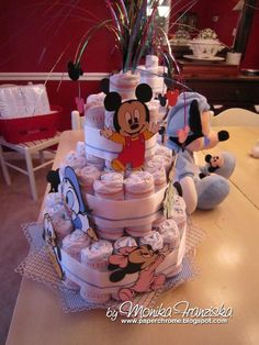 Disney diaper cake...cute