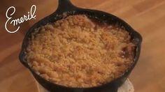 Classic Apple Crisp Recipe made in a skillet! #EmerilsHoliday
