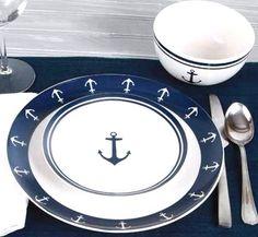 Vintage Anchor Ceramic Dinnerware