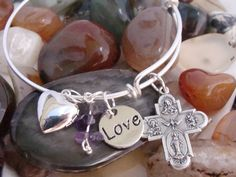 Four Way Medal Charm Bracelet Sterling by ParanormalProtection, $40.00