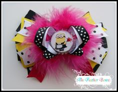 Hair bow Feather