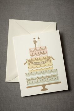 "Sweet and simple ""Congrats"" card from Rifle Paper Co."