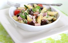 Fresh and Vibrant Mediterranean-Inspired Pasta Salad from Parade magazine.