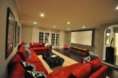 More ideas below: DIY Home theater Decorations Ideas Basement Home theater Rooms Red Home theater Seating Small Home theater Speakers Luxury Home theater Couch Design Cozy Home theater Projector Setup Modern Home theater Lighting System Home Theater Decor, Best Home Theater, Home Theater Rooms, Home Theater Design, Home Theater Seating, Cinema Room, Home Theater Speakers, Home Theater Projectors, Home Entertainment