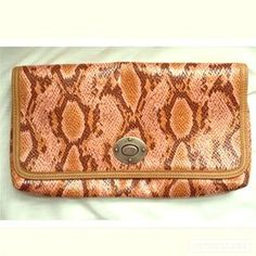 Selling this on Poshmark: Snakeskin Embossed Clutch. Check it out! Price: $19 Size: OS