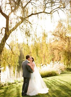 This couple was married underneath a willow tree. Are you having an outdoor ceremony?