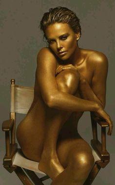 Naked woman having babies