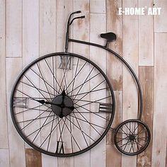 Old Bycicle Metal Wall Clock   Wall Clocks Blog