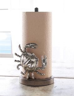 Mud Pie Classic Crab Collection Paper Towel Holder Kitchen Decor 4711000 New