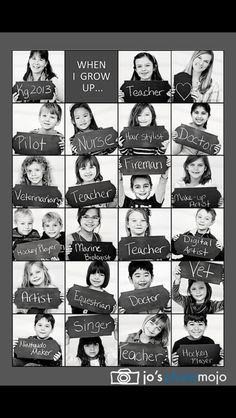 From Jo's photo mojo - I love this! If I become a teacher, I will do this for my classes