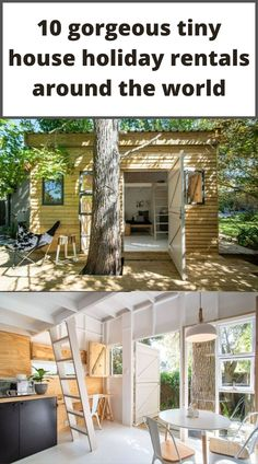 Small cabin with white and wooden interior in South Africa Little House Plans, Little Houses, Minimalist House Design, Minimalist Home, Holidays Around The World, Around The Worlds, Tiny House Rentals, Interior Design Pictures, Modern Tiny House