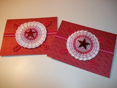 Red and Purple Star Rosette Blank Greeting Cards Set of 4. $12.00, via Etsy.