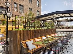 Hotel Chantelle  Rooftop Bar & Restaurant  You can't resist a bird's-eye view of the Lower East Side, especially with Hotel Chantelle's blackberry sour in hand.    Hotel Chantelle, 92 Ludlow Street, between Broome and Delancey Streets (212-254-9100 or hotelchantelle.com).