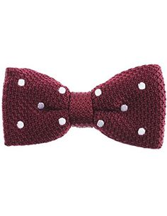 FLATSEVEN Mens White Dot Point Knit Bow Tie Bowtie Pre-Tied (YB504) Wine FLATSEVEN http://www.amazon.co.uk/dp/B00L59GEVY/ref=cm_sw_r_pi_dp_5kllub1YRB5AS