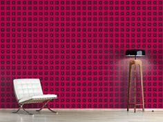 Design #Tapete Waffeln In Pink