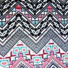 Aztec Zig Zags Cotton Lycra Knit Fabric
