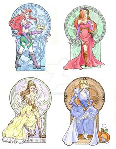 Steampunk Disney Girls by khallion