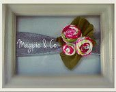 pink patterned rose headband - Magpie & Co. $6.99