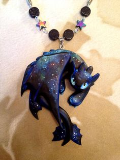 Cosmic Fury by Gatobob on DeviantArt Dragon Necklace, Dragon Jewelry, Toothless Dragon, Magical Jewelry, Cute Dragons, Cute Clay, Craft Night, Polymer Clay Crafts, Polymer Clay Dragon