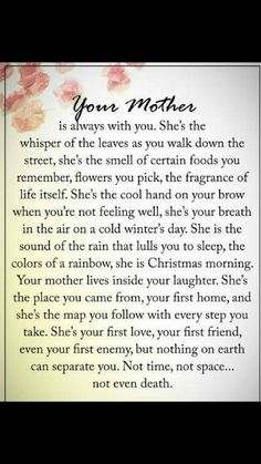 Gah I miss my mom more then anything! Sucks so bad even today. Mother Poems, Mom Poems, Loss Of Mother Quotes, Funeral Poems For Mom, Funeral Quotes, Sister Poems, Mothers Day Quotes, Mom In Heaven Quotes, Missing Mom In Heaven