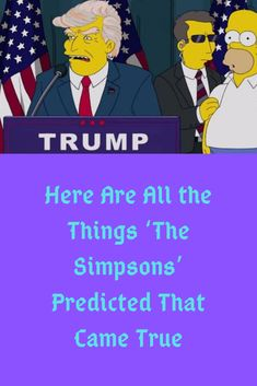 Here Are All the Things 'The Simpsons' Predicted That Came True Hilarious, Funny, The Simpsons, Inventions, All About Time, Weird, Tv Shows, Entertainment, Cartoon