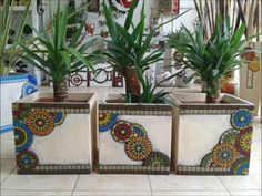 Mosaic Diy, Mosaic Crafts, Mosaic Projects, Mosaic Wall, Mosaic Glass, Mosaic Tiles, Glass Art, Pebble Mosaic, Mosaic Planters