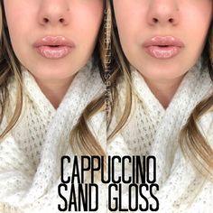 Cappuccino LipSense with Sand Gloss