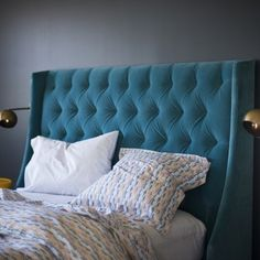Cassandra Bed - Peacock Velvet by Schoolhouse Electric & Supply Co