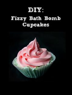 Learn how to make these fizzy bath bomb cupcakes for a special spa day. These would make great gifts for friends, or a perfect mother's day gift!