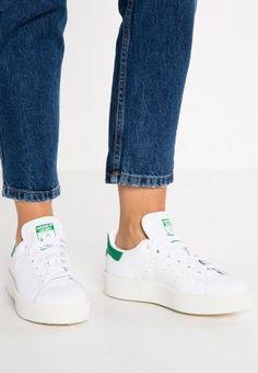 7522a605443 adidas Originals Bold Sneakers Low Of White Green For Men Women Adidas  Originals