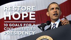 President Obama: 10 Goals for a Civil Liberties President