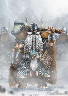 Longbeards are the oldest and most experienced of the Dwarf warriors, a fact evident of their long beards. They ensure that they receive complete respect from other dwarfs, who are taught quite rightly to respect their elders. Longbeards have fought in more wars beaten more enemies and endured more hardship than any young dwarf will ever know.