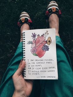 i am growing flowers, in the darkest part of my heart, for if light ever enters, it would know where to start poetry by Noor Unnahar // art journal ideas Noor Unnahar, Journal D'art, Journal Quotes, Art Journals, Journal Entries, Poetry Journal, Fitness Journal, Kunstjournal Inspiration, Art Journal Inspiration