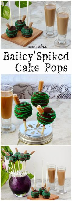 Bailey's Spiked Cake Pops Guinness Chocolate cake with Bailey's Buttercream frosting turned into a cake pop and spiked with extra Bailey's.