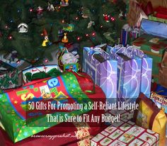 "50 Gifts For Promoting a Self-Reliant Lifestyle That is Sure to Fit Any Budget! There are great ideas here for any Prepper's to add to their ""Must Have"" List."