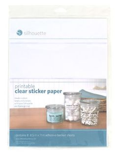 Print clear labels onto sticker for pantry labels.   Silhouette Printable Clear Sticker Paper Silhouette