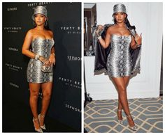 Get It In Plus: Plus Size Snake Print Bodycon Dress Like Rihanna's Strapless Dress, Bodycon Dress, Snake Print Dress, Rihanna Fenty, Celebrity Look, Cowgirl Boots, Siblings, Plus Size Fashion, Natural Hair Styles