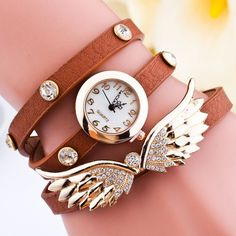 Angel Wings Rhinestone Wrap Bracelet Watch #>=#>=#>=#>=#> Click on the pin to check out discount price, color, size, shipping, etc. Save and like it!