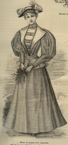 "Extraído de la revista ""La Moda Ilustrada"". 1895 - for button fairy"