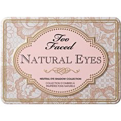 Natural Eye Neutral Eyeshadow Palette | Too Faced - Too Faced (€35) ❤ liked on Polyvore featuring beauty products, makeup, eye makeup, eyeshadow, beauty, fillers, cosmetics, too faced cosmetics and palette eyeshadow