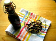 homemade chocolate sauce (made with water and cocoa powder)