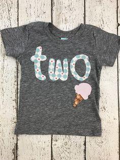 New lil threadz design posted! Ice cream party ice cream outfit girl's birthday outfit girl's shirt ice cream invite ice cream decor teal and purple ice cream cone by lilthreadzclothing